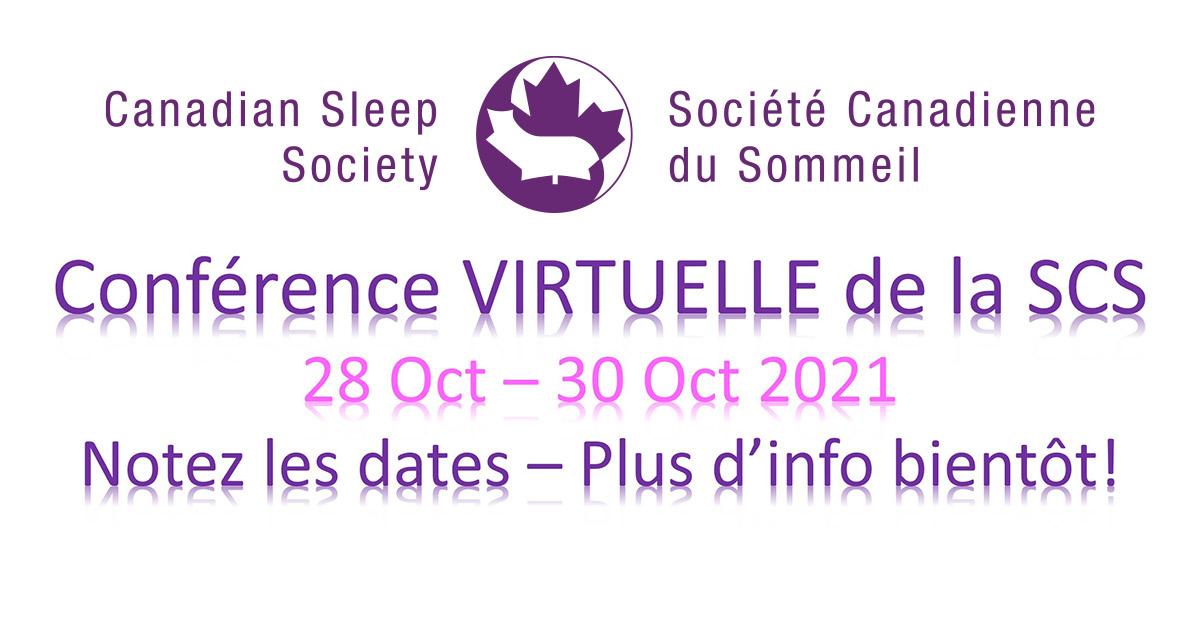 Conférence VIRTUELLE de la SCS du 28 Oct au 30 Oct 2021