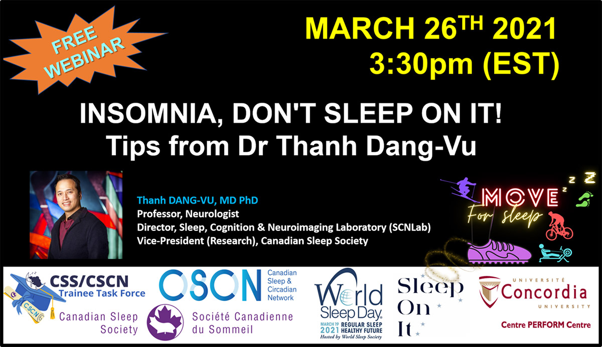 Webinar: Insomnia, Don't Sleep On It! Tips from Dr Thanh Dang-Vu